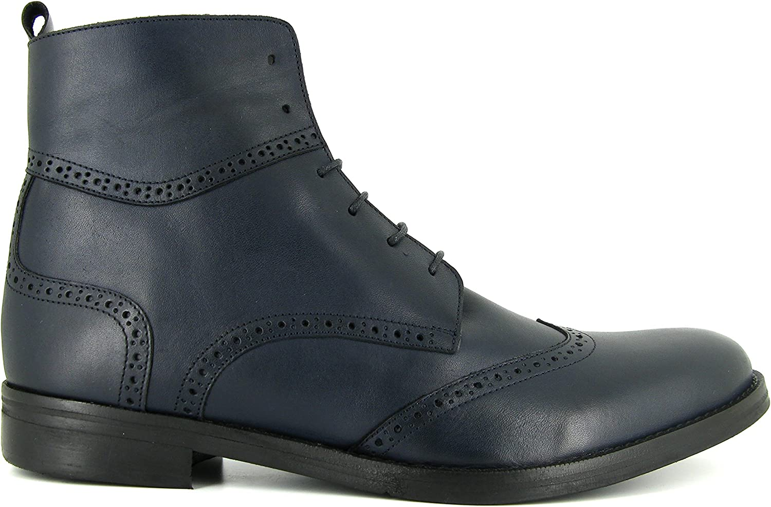 J.Bradford Man shoes Boots bluee Navy Leather JB-Victor