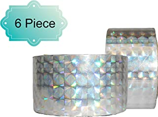 DBC Retail Holographic Tape (Silver, 18 m, Pack of 6)