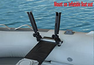 Brocraft Inflatable Boat/Canoe Rod Holder with Aluminum Track