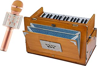 Makan Musical Harmonium, 2 1/2 Octaves, 32 Keys, Small, Portable, Compact, Special Reeds, Safri, Natural Color, Bag, Book, Kirtan, Musical Instrument Indian