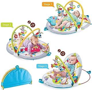 Yookidoo Gymotion Colchoneta de juego para sentarse Colchoneta de actividad infantil Juguete para bebé de 0 a 12 meses