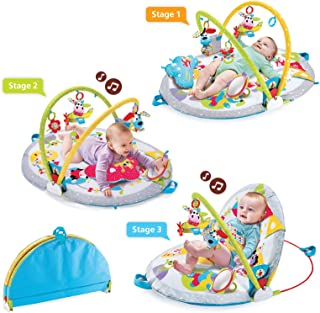 Baby Play Gym by Yookidoo - Lay To Sit-Up Play Mat Gymotion. Infant Activity Toy for Newborns 0 - 12 Month