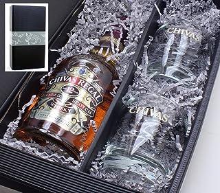 Geschenkkarton mit Chivas Regal Scotch Whisky 12 Years 0,7l 40% und 2 orginal Gläser