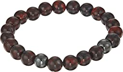 8mm Natural Poppy Jasper w/ Hematite Bracelet