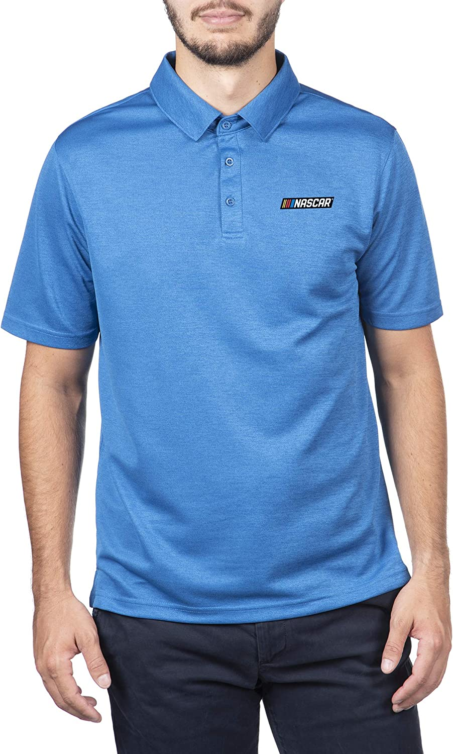 2021 spring and summer new Elite Fan Shop NASCAR Men's Core Royal X Icon Safety and trust Polo Favorite