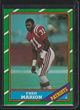 1986 Topps Fred Marion Patriots Football Card #42