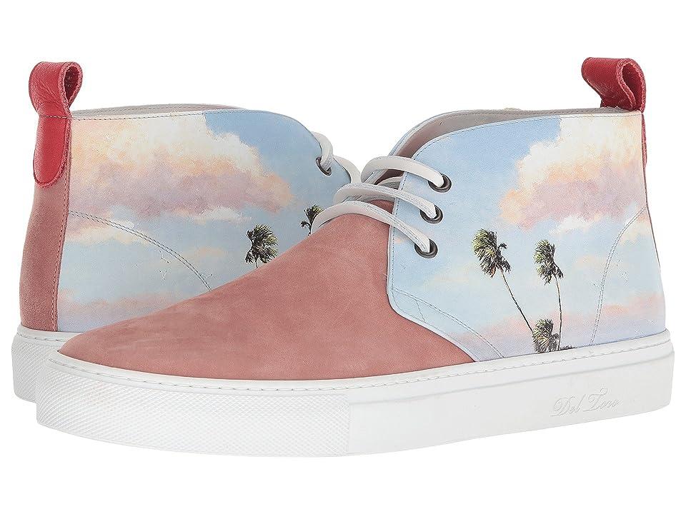Del Toro High Top Chukka Sneaker (Pink Photo Print) Men