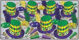 Beistle Mardi Gras Assortment for 50-Inch, Green/Gold/Purple/White