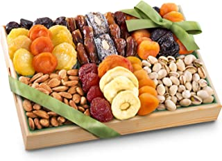 Pacific Coast Deluxe Dried Fruit Tray With Nuts Gift With Almonds & Pistachios for Holiday Birthday Healthy Snack Business...