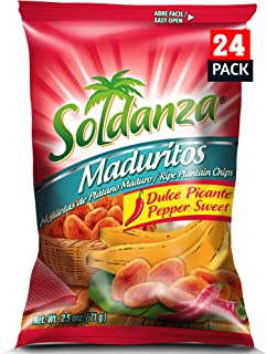 soldanza Pepper Sweet Plantain Chips, 2.5 Ounce (Pack of 24)