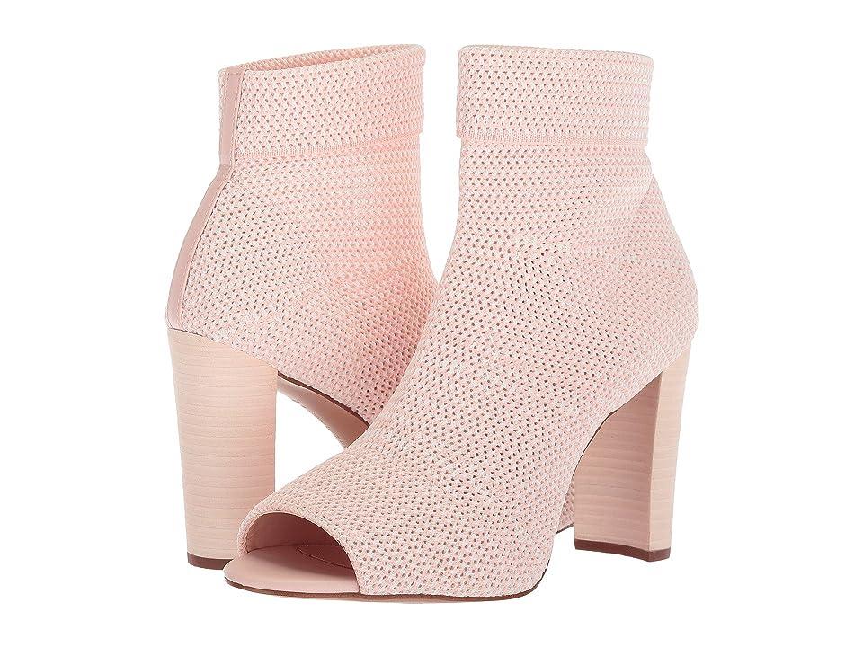 Avec Les Filles Mariah (Avec Pink/White Stretch Knit) High Heels