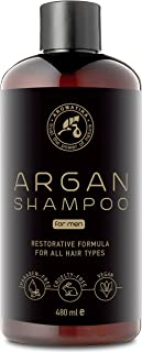 Argan Oil Shampoo For Men 480ml with Natural Argan Oil & Herbal Extracts For all Hair Types - Special Restorative Formula ...