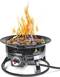 Outland Firebowl 823 Outdoor Portable Propane Gas Fire Pit, 19-Inch Diameter 58,000 BTU