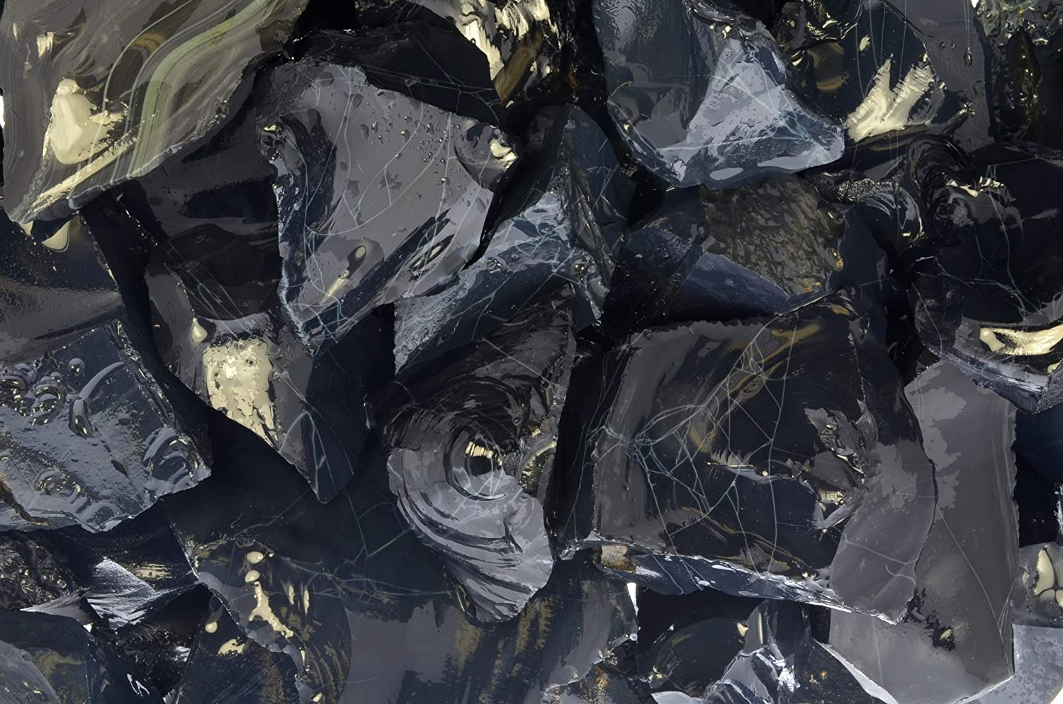 Fantasia Materials: 5 lbs Spiderweb OFFicial site Obsidian Stones from Rough M Sales