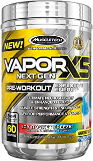 Pre Workout Powder | MuscleTech Vapor X5 | Preworkout Powder for Men & Women w/ Creatine Monohydrate & Beta Alanine for En...