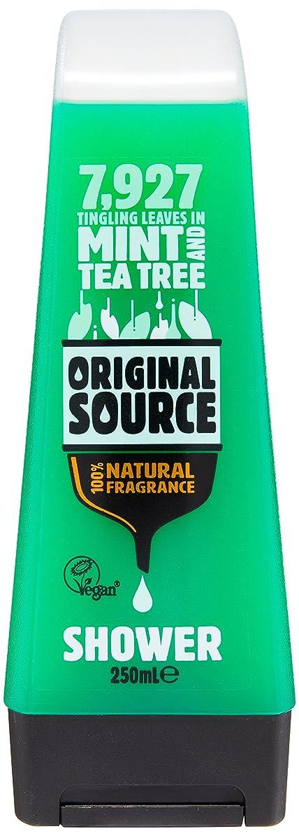 マイクロプロセッサ豪華な膿瘍Original Source Mint and Tea Tree Shower Gel 250 Ml by Original Source