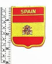 Parche bordado con la bandera de España para chaleco, chaqueta, moto, moto, motociclista, tatuaje, chaqueta, camiseta, parche para coser o planchar, insignia bordada
