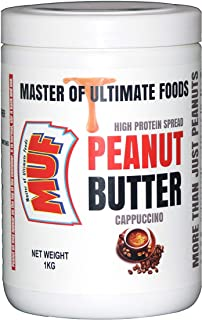 MUF Peanut Butter Coffee Flavour (Cappuccino) Creamy   Smooth   1 KG   HIGH Protein   Vegan