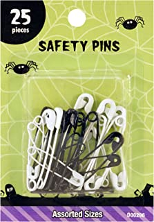 SINGER Halloween Black & White Safety Pins, Sizes 1 & 2, Black/White