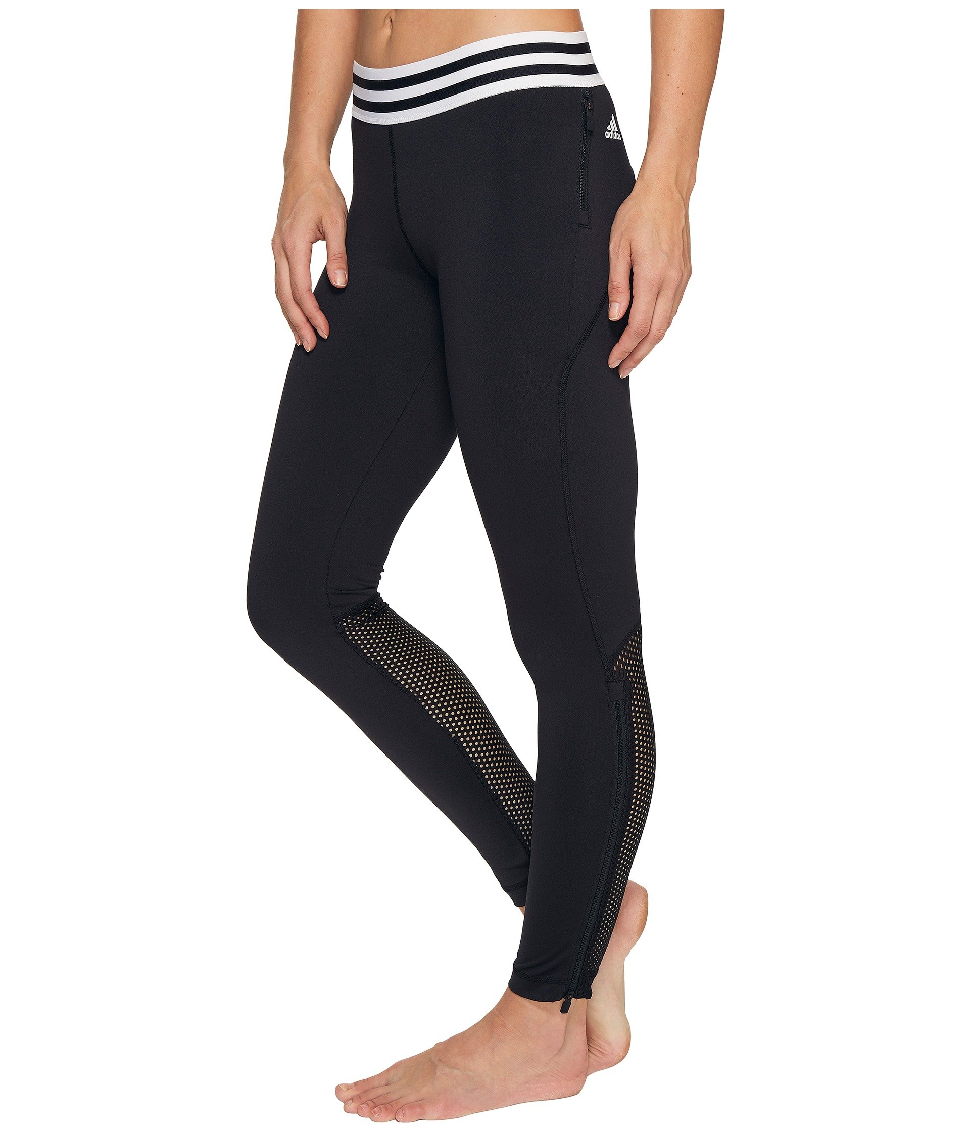 adidas sport id zipper leggings at 6pm. Black Bedroom Furniture Sets. Home Design Ideas