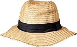 Paper Braid Fedora with Pleated Knotted Band