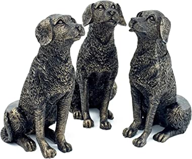 Plant Risers for Pots. Decorative Feet for Planters. Use Indoor and Outdoor to Improve Airflow and Drainage. Hand Painted Sitting Labrador Set of 3