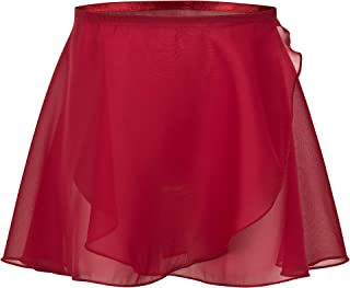 Carolilly Gonna in Pelle Bambina a Vita Alta Gonna Pelle Corta con Zip e Bottoni Nero Rosso