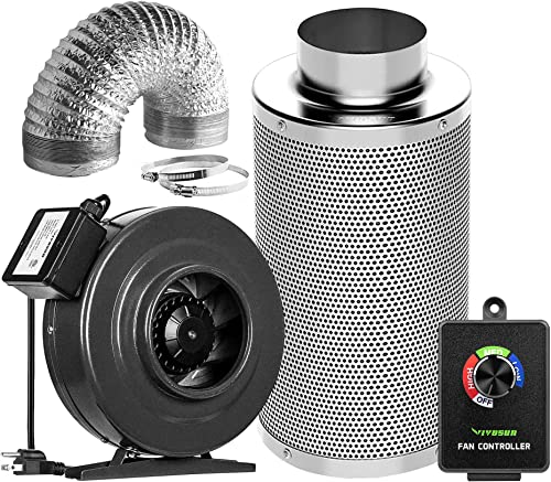 wholesale VIVOSUN Air Filtration Kit: 6 Inch 440 CFM Inline Fan discount with Cordless Speed Controller, 6 Inch Carbon discount Filter and 8 Feet of Ducting Combo sale