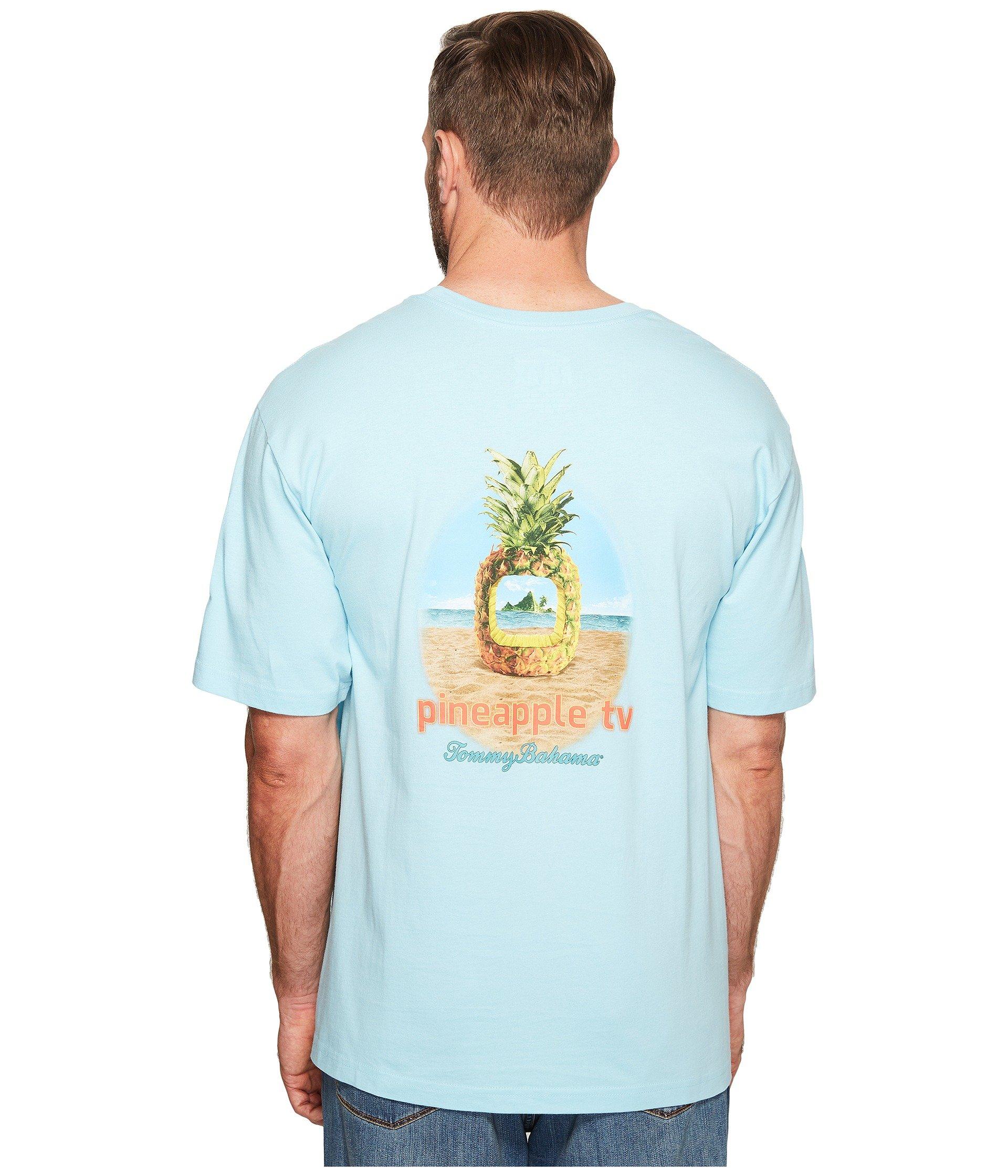Tommy bahama big tall big tall pineapple tv tee at 6pm for Custom tommy bahama shirts