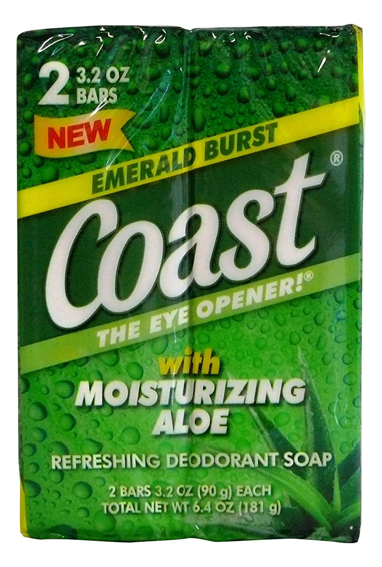混合見つける資格コースト 固形石鹸 エメラルドバースト 90g 2個入