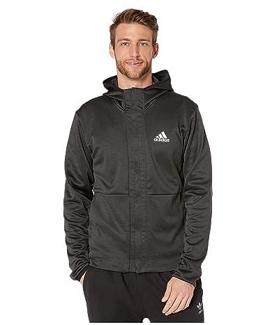 adidas Team Issue Full Zip Hoodie (Black/Heather/White) Men