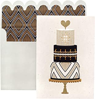 Paislee Paperie 353738 Wedding Cake Greeting Card, Gold Foil