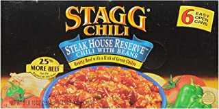 Stagg Chili Steakhouse Reserve Chili with Beans, 15 Ounce, 6 Count