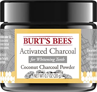 Burt's Bees Activated Coconut Charcoal Powder, Natural Flavor for Teeth Whitening, 20g, (Perfect Gift-Stocking Stuffer)