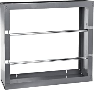 Durham 384-95 Gray Cold-Rolled Steel Wire Spool Rack with 2 Rods, 26-1/8