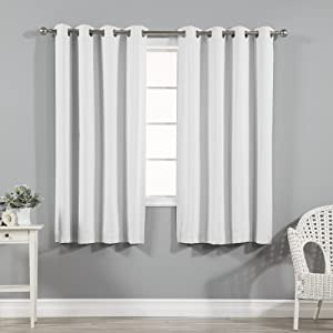 Best Home Fashion Thermal Insulated Blackout Curtains - Stainless Steel Nickel Grommet Top - Vapor - 52
