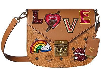 MCM Patricia Love Patch Shoulder Small (Cognac) Handbags
