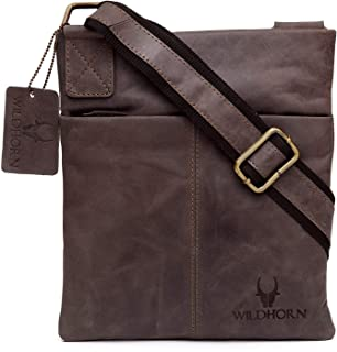 Wildhorn Genuine Leather Hand-Crafted Messenger Bags, Brown, 35 cm - WHMB530