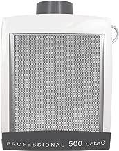 Cata Humos Modelo Professional 500 Cocina silencioso | Ventilador Extractores de Aire | Color bl [Clase de eficiencia energética D], 125 W, 57 Decibelios, Plástico y Rejilla de Aluminio, Blanco y gris