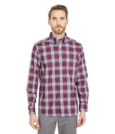 Nautica Classic-Fit Wrinkle-Resistant Plaid Shirt (Zinfandel) Men