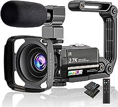 Video Camera 2.7K Camcorder Ultra HD 36MP Vlogging Camera for YouTube IR Night Vision..