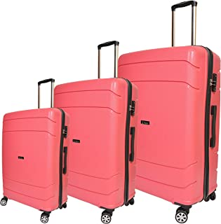 Track Trolley Bags, Set of 3 Pieces, Pink, 808A/3PC