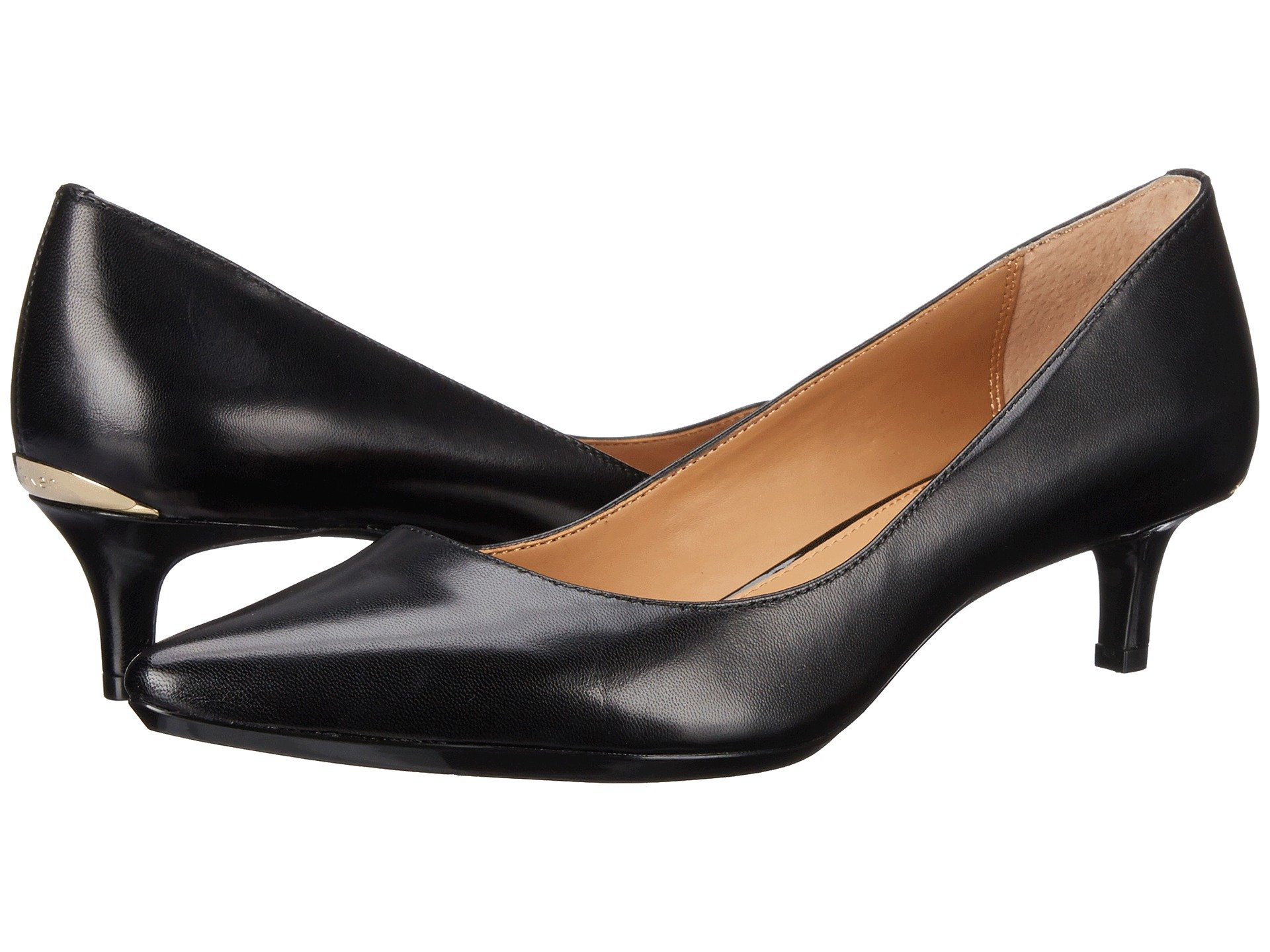 Anne Klein Womens finn Leather Pointed Toe Classic Pumps Black Size 7.0 SAah