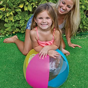 """Intex 24"""" Inflatable Paradise Panel Colorful Beach Ball - (Set of 2) 