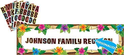 Amscan Luau Party Personalized Giant Sign Banner Set