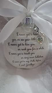 Miscarriage Memorial Ornament - Before I Said Goodbye - In Memory of Baby Loss