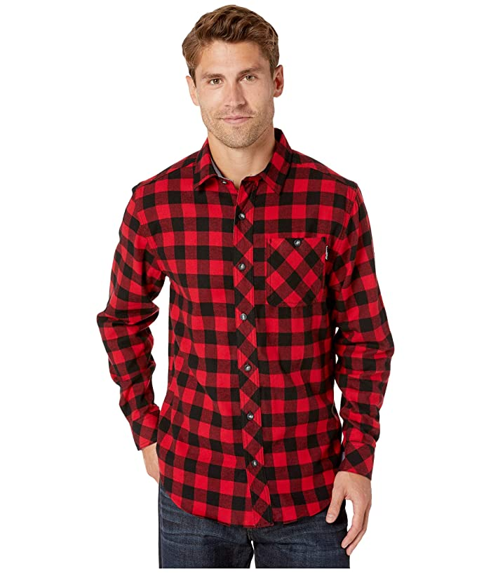 Mens Vintage Shirts – Casual, Dress, T-shirts, Polos Timberland PRO Woodfort Mid-Weight Flannel Work Shirt Classic Red Buffalo Check Mens Clothing $34.99 AT vintagedancer.com
