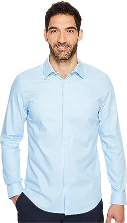 Calvin Klein - Slim Fit Long Sleeve Infinite Cool Chambray Twill Shirt