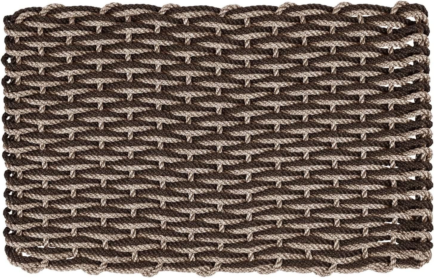 35% OFF ColorWave Nautical free shipping Rope Doormat Handwoven Reversible Dual Weave
