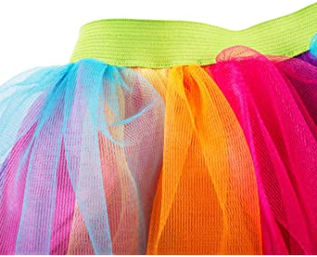 Tigerdoe Rainbow Tutu's – 3 Pack - Multicolored Tulle Tutu - 80s Accessories - 80s Clothes for Women - Tutus for Women